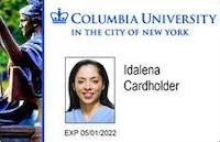Image of a sample Columbia University ID Card