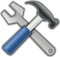 Image of hammer and wrench