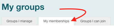 Image of My Memberships in Grouper
